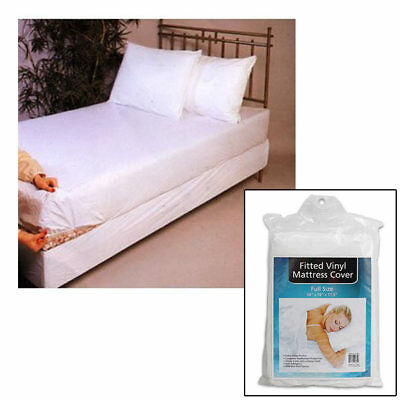 2 Full Size Bed Mattress Cover Plastic White Waterproof Bug Protector Mites Dust
