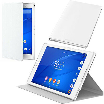 White Stand Case for Xperia Z3 Tablet Compact Sony Style Flip Cover