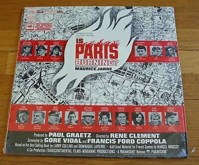 Maurice Jarre 1966 Columbia Stereo Soundtrack LP Is Paris Burning? NM in shrink