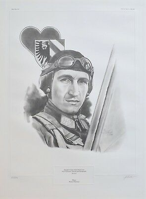 Major Walter Nowotny Limited Edition 53/500 Print Signed by Artist J.G. Keck