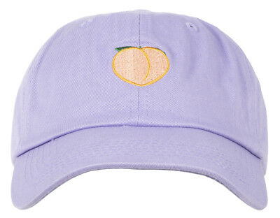 3bdd7340084 Any Memes Peach Dad Hat Strapback Cap Curved Bill Embroidered Purple Unisex