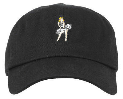 73fae4a17fe Any Memes Monroe Dad Hat Strapback Cap Embroidered Curved Bill Black Nwt  Unisex