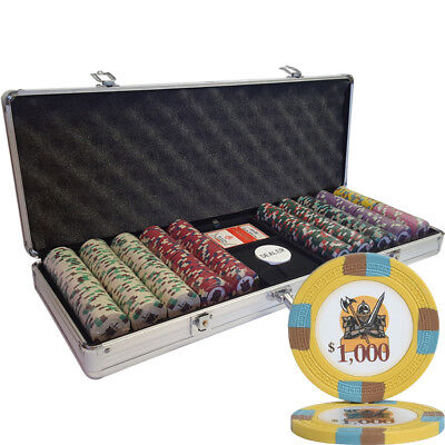 500 14G Knights Casino Table Clay Poker Chips Set - Choose Denomination