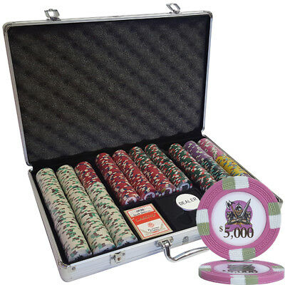 650pcs 14G KNIGHTS CASINO CLAY POKER CHIPS SET WITH - CHOOSE DENOMINATIONS