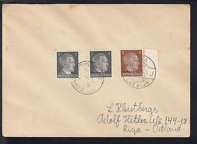 Germany 1941 Russian Occupation Cover, Riga Cancels