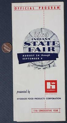 1963 INDIANA STATE Fair Map & Program-Beverly Hillbillies  Appearances-VINTAGE!