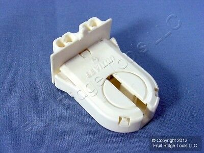 Leviton Fluorescent Lamp Holder Light Socket Bi-Pin Wide Fin T8 T12 13653-WWP