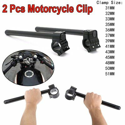 "Motorcycle Clip On 7/8"" CNC Handlebar 31/32/33/35/36/37/39/41/43/45/48/50/51 MM"