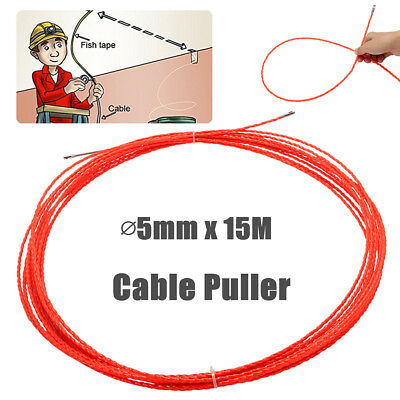 ∅5mm 15M Professional Cable Push Puller Rodder Reel Conduit Snake Fish Tape Wire