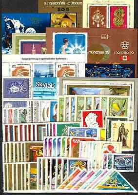 Hungary 1973. Full year sets with souvenir sheets MNH Mi: 110 EUR !