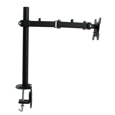 """Single Arm Monitor Desk Table Mount Stand/For 1 LCD Fully Swivel Clamp 13-27"""""""