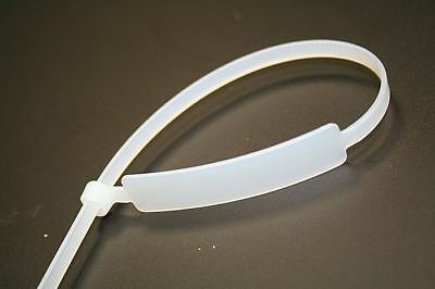 Marker Cable Tie Write On Label I.D Tie Tag  Natural/White 190mm x 4.8mm (MCT2)