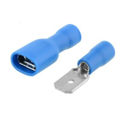 Crimp Terminals BLUE Male Tab and Fully Insulated Female Spade (All Sizes)