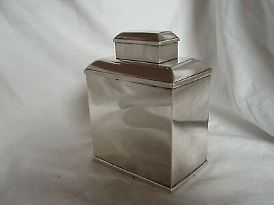 Tea Caddy Sterling Silver Birmingham 1928
