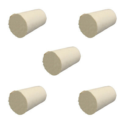 2 Sizes White Tapered Rubber Plug Stopper Bung - Flask- 10PCS - Lab Supplies