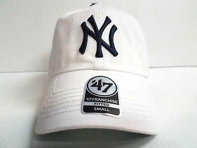 9d35445965b713 New York Yankees New Franchise '47 Brand Fitted Cap Unstructured White Hat  MLB