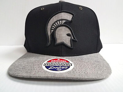 best service b2372 47720 Michigan State Spartans Zephyr Cap Flat Brim Snapback Black Boss Hat NCAA