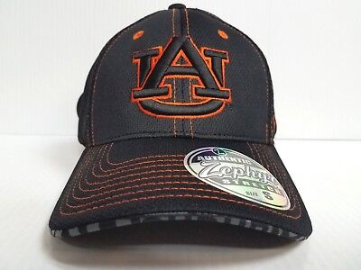 big sale f8244 5ce28 Auburn Tigers Cap Zephyr Stretch Fit Fitted Black Mesh Undertaker Hat