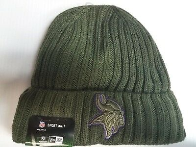 eaa546b1a Minnesota Vikings New Era Knit Hat 2017 Salute to Service Stocking Cap NFL