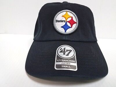b3e0d2df966 Pittsburgh Steelers Franchise  47 Brand Fitted Cap Unstructured Black Hat  NFL