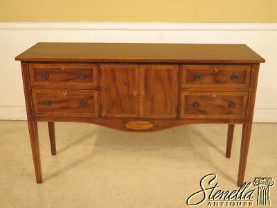 23943E: Vintage Custom Crafted Inlaid Mahogany Historic Newport Design Sideboard