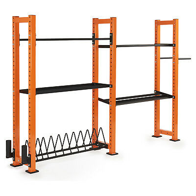 Mirafit Customisable Gym Storage System Weight Rack Stand Studio Racking Shelves