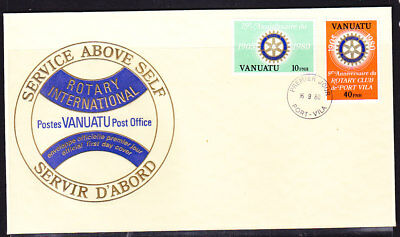 Vanuatu 1980 Rotary  First Day Cover - Unaddressed