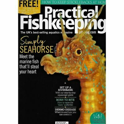Practical Fishkeeping Magazine July 2018 Issue 7 PFK Mag Aquarium Ponds Fish Pet