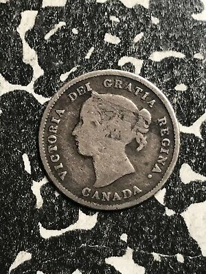 1875-H Canada 5 Cents Lot#X5921 Silver! Key Date!