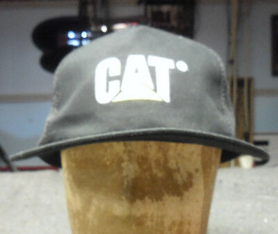 563ea846 Caterpillar CAT Equipment Trucker Black with Twill Mesh Snapback Cap Hat