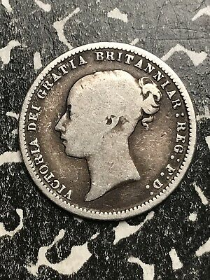 1873 Great Britain 6 Pence Sixpence Die#74 Lot#X5961 Silver!