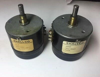 2 Vintage Shallco A227 2 db step Attenuator rotary pots w/cue for mixing console