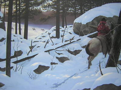 Harry Antis Passing in Winter Silence Indian LTD Print
