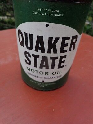 One Can Quaker State Metal Half Oil Can Wall Decor Gas & Oil