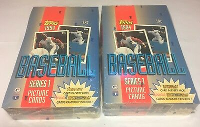 Lot of (2) 1994 Topps wax boxes Series 1 factory-sealed (72 unopened packs) MINT