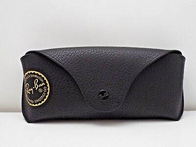 RAY-BAN Sunglasses Black Gold Logo Case Only