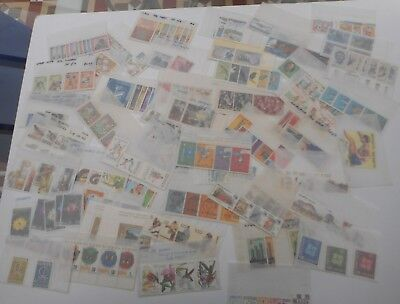 Collection of 50 world-wide sets in individual glassine envelopes, MNH