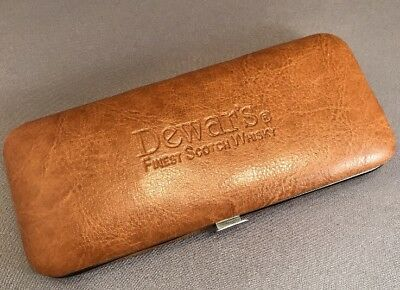 MENS MANICURE SET Dewars Scotch FATHERS DAY GIFT Collectible LEATHER