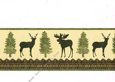 Bear And Moose Wallpaper Border