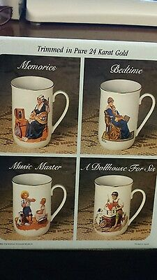 Collectors Mug Set by Norman Rockwell