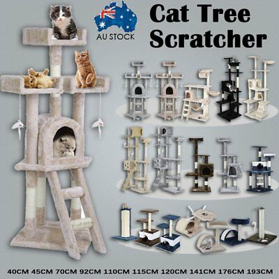 Cat Tree Scratching Post Scratcher Pole Gym Toy House Furniture Multi Level XT