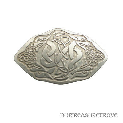 4 Celtic Dragons Nickel Silver Hair Tie NHT-8