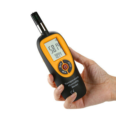 Digital Temperature Humidity Meter Hygrometer Dew Point Wet Bulb Thermometer