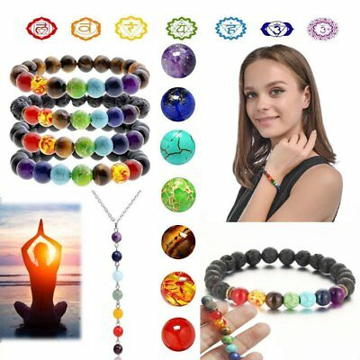 7 Chakra Healing Beaded Bracelet Diffuser Bracelets Jewelry Gifts For Women Men