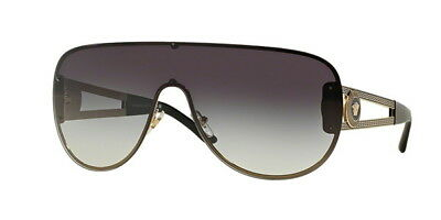 4941e175202 HOT NEW VERSACE Aviator Pilot Shield Gold Metal Sunglasses VE 2140 ...
