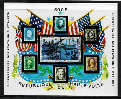 Burkina Faso #358 Mint Never Hinged S/Sheet - American Bicentennial