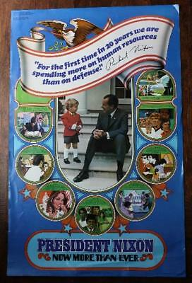 1972 Young Voters for President Richard Nixon Poster-Watergate CREEP Committee!