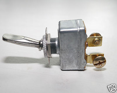 HEAVY DUTY Toggle Switch  On-Off  Pollak 34-212  50 amp@12V  Long Chrome Handle