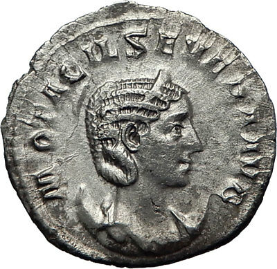 OTACILIA SEVERA wife of Philip I 247AD Rome Silver Ancient Roman Coin i70130