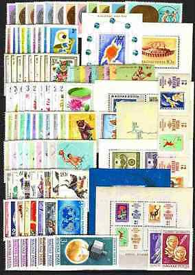 Hungary 1965. Full year sets with souvenir sheets MNH Mi: 109.50 EUR !!